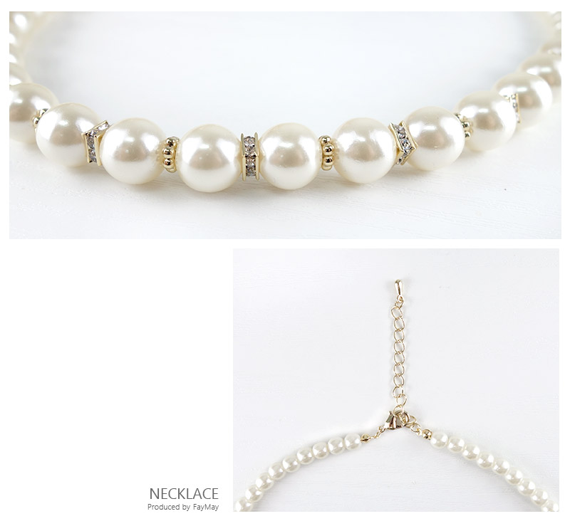 Onepieceshop faymay rakuten global market choose pearl necklace small pearl with alternating two types of bijoux and gold spacer design a gorgeous necklace and pearl earrings or earrings set accessories junglespirit Images