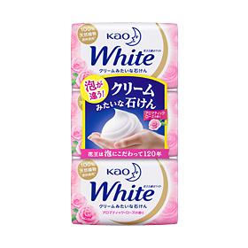 【まとめ買いがお得!】花王ホワイト アロマティックローズの香り 普通サイズ 3コパック 85g×3個入り×40セットKao White 4901301232366