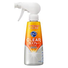 スポンジいらずで清潔に 新品未使用 まとめ買いがお得 花王 キュキュット CLEAR泡スプレー 本体 4901301321947 Kao 海外輸入 300ml×12セット Kyukyutto オレンジの香り