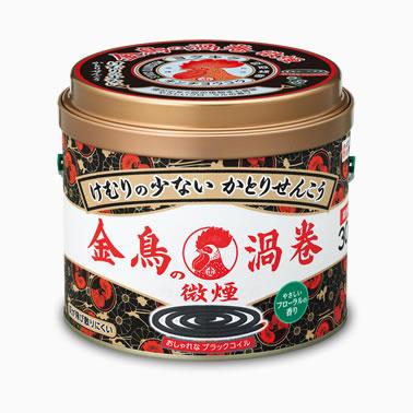 【まとめ買いがお得!】金鳥の渦巻 微煙 30巻 (缶)×24缶セット Kincho Mosquito coil 4987115000568【ラッキーシール対応】