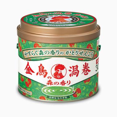 【まとめ買いがお得!】金鳥の渦巻 森の香り 30巻 (缶)×24缶セット Kincho Mosquito coil 4987115000810【ラッキーシール対応】