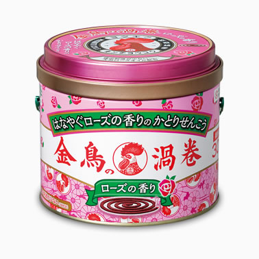 【まとめ買いがお得!】金鳥の渦巻 ローズの香り 30巻 (缶)×24缶セット Kincho Mosquito coil 4987115000919【ラッキーシール対応】
