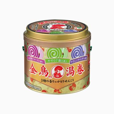 【まとめ買いがお得!】金鳥の渦巻 30巻 (缶) 3種の香り×24缶セット Kincho Mosquito coil 4987115000957【ラッキーシール対応】