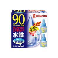 【まとめ買いがお得!】金鳥 水性キンチョウリキッド 90日 無香料 取替え液 2本×30セット Kincho Liquid 4987115230996