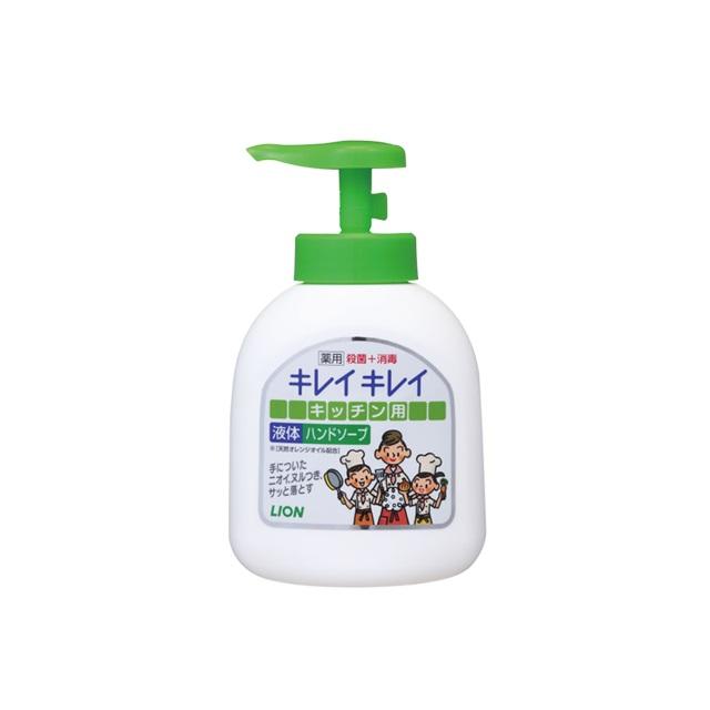 Lion beauty beauty medical use kitchen liquid hand soap pump 250 ml *24 set  Lion Kireikirei Kitchen Handsoap 4903301007333
