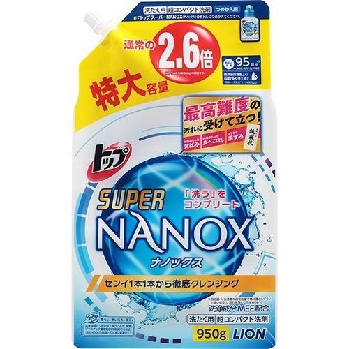 【まとめ買いがお得!】ライオン トップ スーパーNANOX(ナノックス) [つめかえ用] 特大 950g×12セット Lion Top Nanox 4903301242031