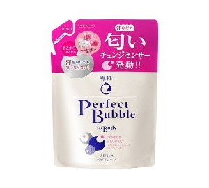 【まとめ買いがお得!】資生堂 専科 パーフェクトバブル フォーボディー(スウィートフローラル) つめかえ用 350mL Shiseido SENKA Perfect Bubble Body x18個セット 4901872443772