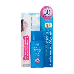 みずみずしくなじみ レジャーにも使える日やけ止め まとめ買いがお得 資生堂 専科 ミネラルウォーターでつくったUVジェルSPF50 40mL SENKA Shiseido Gel 卸売り 4901872818952 UV x48個セット セットアップ