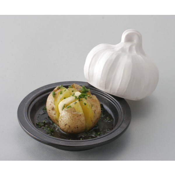 Simple garlic baked microwave garlic whole cooking!  Can be used in the microwave, oven and an open fire! Then you can make butter even! For microwave cooking appliances Gaelic law star Japan made