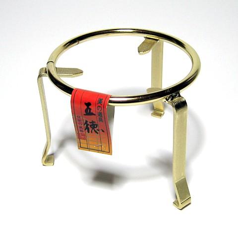 丸五徳 金メッキ 5寸 日本製