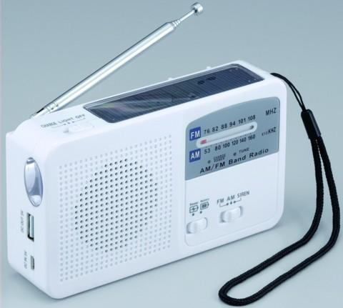 期間限定 AM FMラジオ LEDライト サイレン 手回し発電 USB充電 ソーラー充電 災害時 アウトドアでの携帯電話充電 ラジオ 沖縄県を除く SV-5745 送料無料 乾電池 別売 での使用も可能 ライト 予約 6WAYマルチレスキューラジオ
