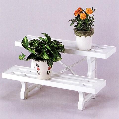 薄型で玄関廻りなどにも最適です! ガーデニング用鉢植え縁台 日本製  フラワースタンド 2段 幅 600mm
