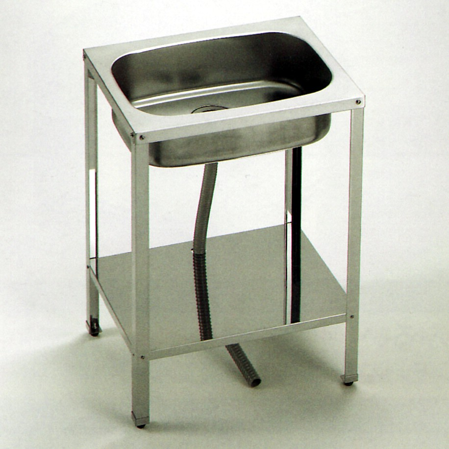 Stainless steel sink stand tall without width 600 mm wet work L-5005 outdoors, gardening, cooking work on!    Stainless steel sink units made in Japan knockdown Assembly type