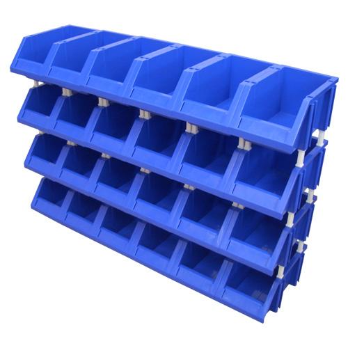 【送料無料】ツールコンテナ CB2-24 ブルー コンテナ個数 24個 コンテナ単体耐荷重(約)10kg 細かい部品、小物整理に便利なコンテナ ガレージや工場などの整理に