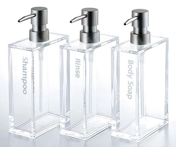 供丙烯药剂师长方形洗发水使用的450ml丙烯制造水泵式瓶