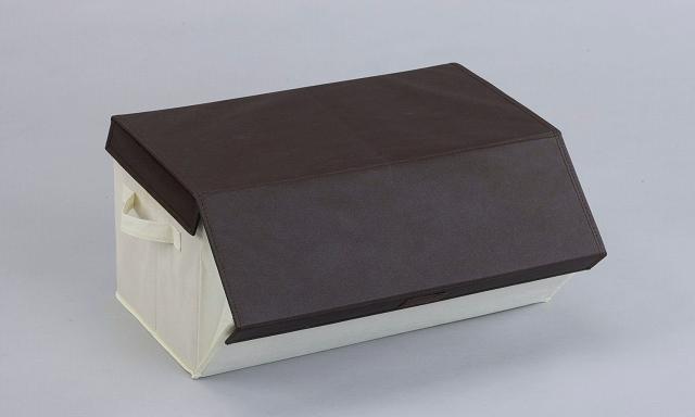 重ねて使える便利な収納ボックス 未使用時は折り畳んで収納可能! #収納ボックス #衣類収納 #整理ボックス #衣装ケース  たためるスタッキングボックス ブラウン SV-5684 ※画像はイメージです。ブラウン色1個単位での販売です。
