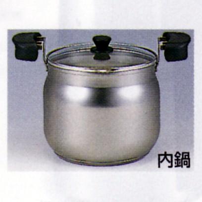 保温烹调工具mahonabe深型4.5L NFA-B450保温容器和锅附带安排真空不锈钢玻璃盖的虎牌保暖瓶电磁炉OK不锈钢mahobin锅