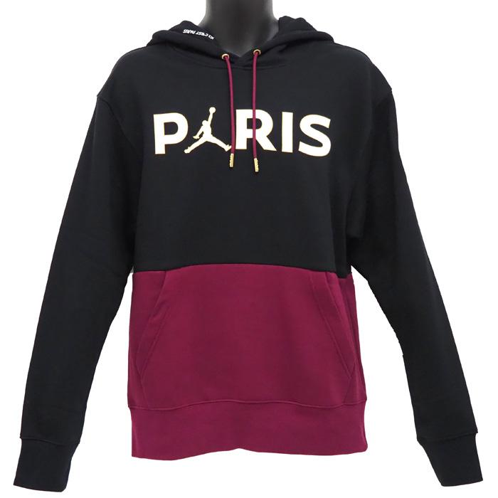 パリ サンジェルマン×ジョーダン フリース プルオーバー フーディー ブラック×パープル パーカー [正規販売店] CK9773-010 ジョーダン スウェット サッカー JORDAN 大好評です
