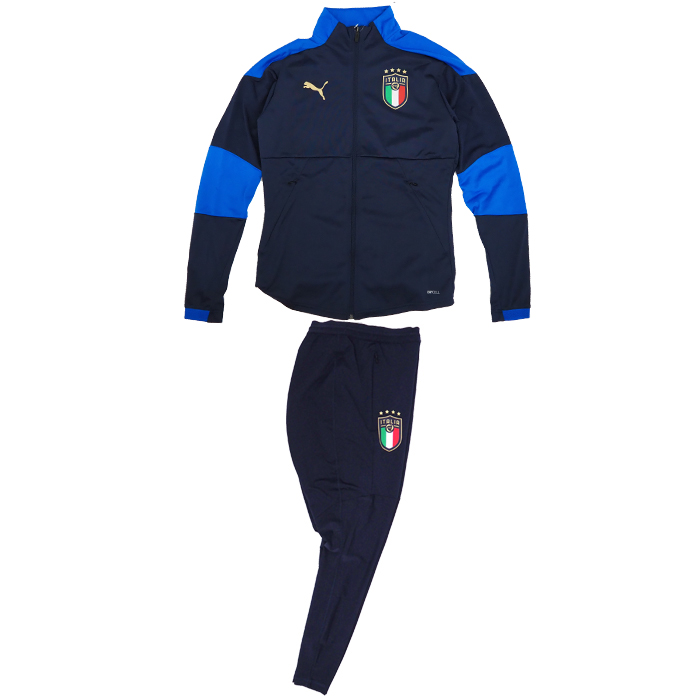 イタリア代表 2020 トレーニングジャケット&PROパンツ 上下セット(ネイビー×ブルー)【PUMA/プーマ】【サッカー トレーニングウェア】(757214-04&757220-07)【店頭受取対応商品】