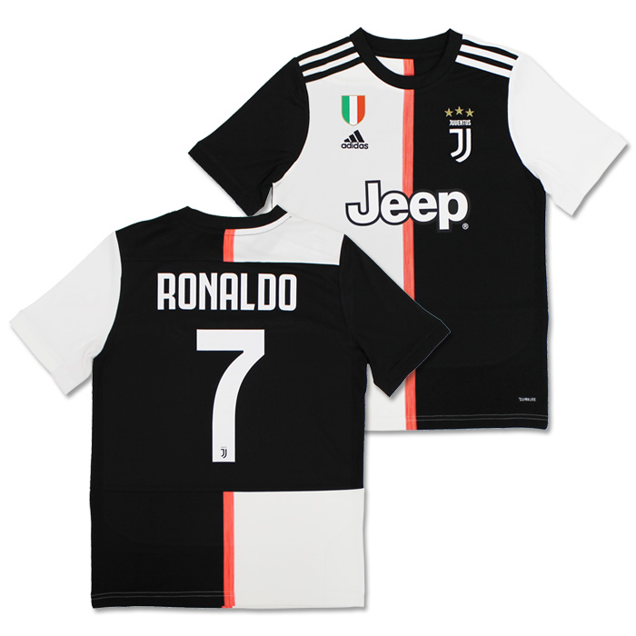 big sale c2212 0f4d4 Juventus 19-20 home short sleeves uniform youth No. 7 Ronaldo (with  スクデットパッチ) (DW5453/CR7-SP)