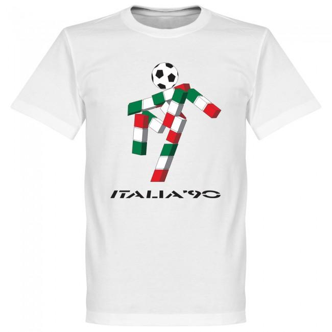 重修 (重修) 意大利 90 吉祥物团队 T 恤 (白色)