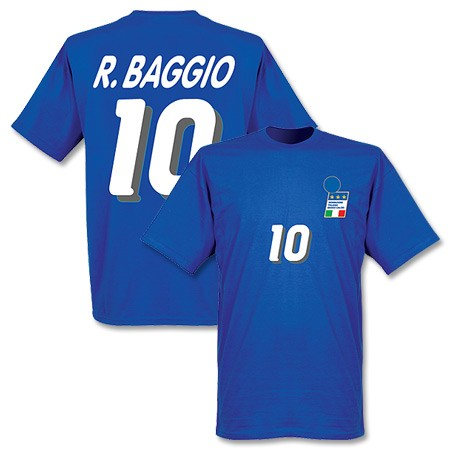 RE-TAKE Roberto Baggio Italy national team 1994 home T shirt (blue)