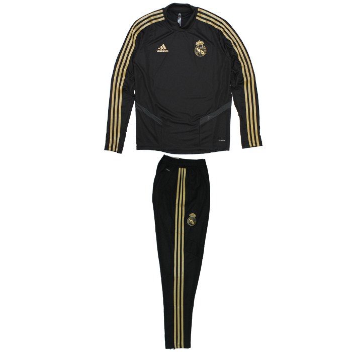 uk availability 4b3aa 92072 ●Real Madrid 19-20 training top & underwear top and bottom set (black)  (DX7836&DX7847)