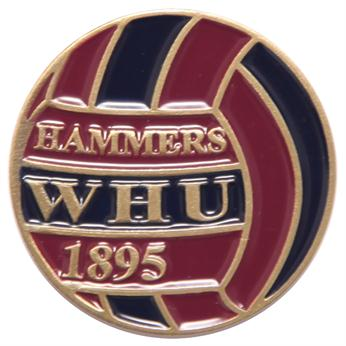 West Ham official pin badge Retro Football (ball)