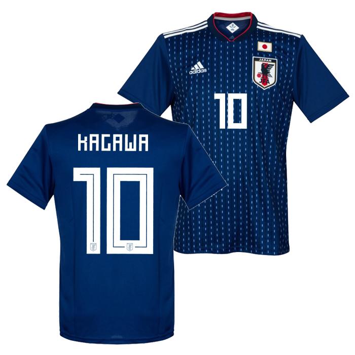 adidas soccer representative from Japan 2018 home replica uniform short  sleeves No. 10 Kagawa 3f420768f