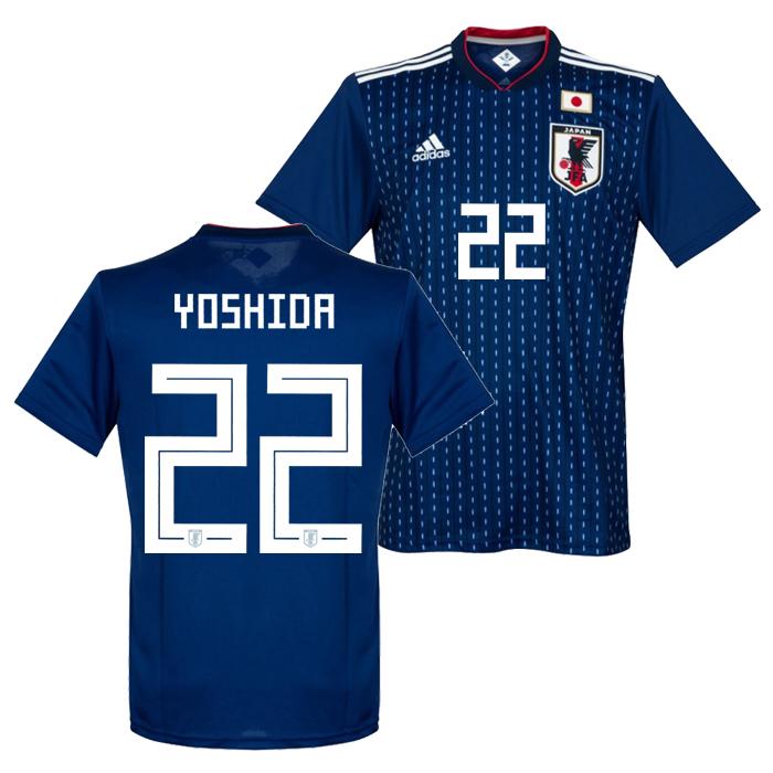 adidas soccer representative from Japan 2018 home replica uniform short  sleeves No. 22 Yoshida 2870604dc
