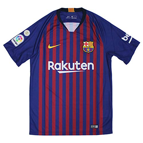 58e63a5a324 FC Barcelona 18-19 home short sleeves uniform No. 10 Messi