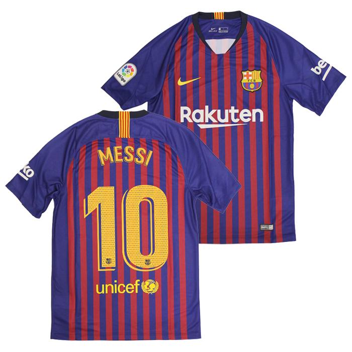 Footballshop fcFA  ○FC Barcelona 18-19 home short sleeves uniform ... 0fdefb893