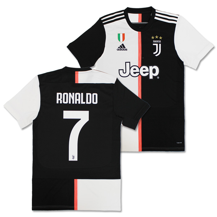 lowest price ad29a 28e48 ●Juventus 19-20 home short sleeves uniform No. 7 Ronaldo (with スクデットパッチ)  (DW5455/CR7)