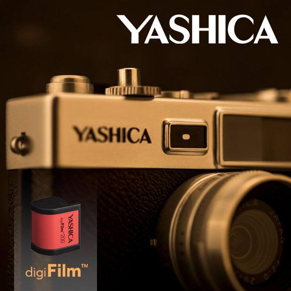 送料無料★ヤシカ YASHICA Y35 digiFilm 200【デジフィルム デジタルカメラ レトロ 昭和ギミック】