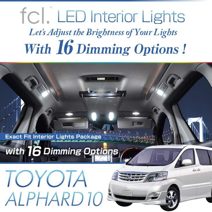 Alphard 10 (2002.5-2008.4) 9PCS Lights Exact Fit Vehicle LED Interior Package