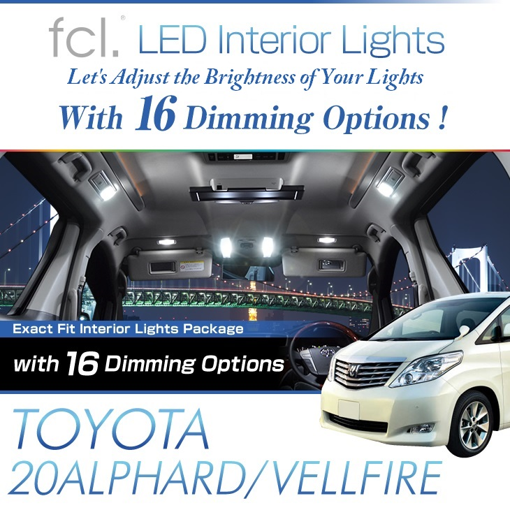 Alphard/Vellfire (20)11PCS Lights Exact Fit Vehicle LED Interior Packag