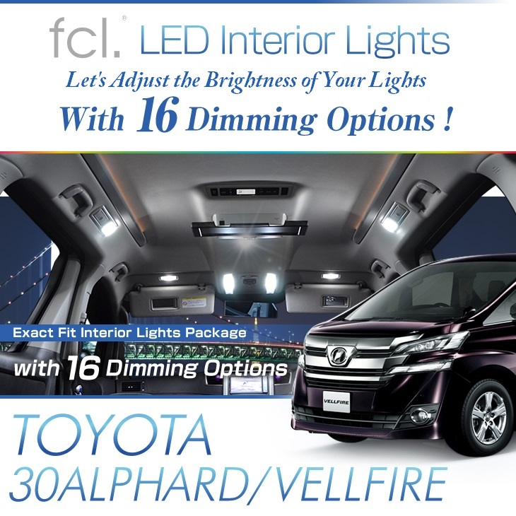 Alphard/Vellfire (30) 8PCS Lights Exact Fit Vehicle LED Interior Package