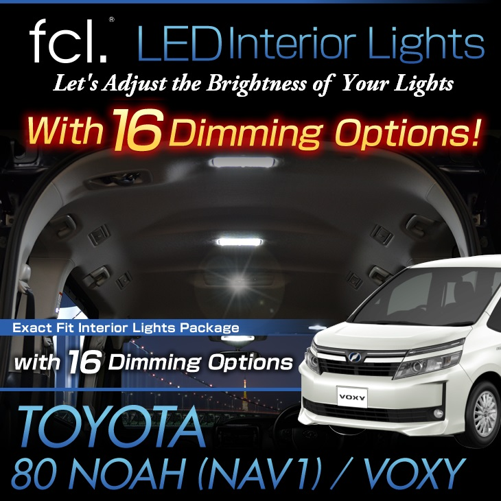 NOAH / VOXY/NAV1(80#) 7PCS Exact Fit Vehicle LED Interior Lights Package