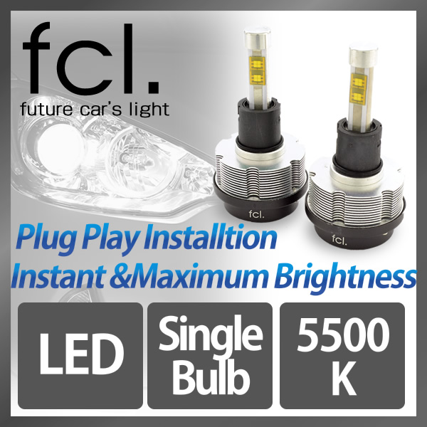 fcl. LED Headlights H1/H3//H7/H8/H11/H16/HB3/HB4 2PCS