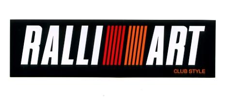 毎日続々入荷 RALLI 低価格 ART ラリーアート ステッカー小 レース 三菱 カスタム