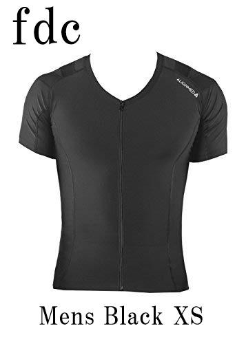 【送料無料】Posture Shirt 2.0 Zipper Mens Black サイズ:XS 【オンサイドワールド】【ALIGNMED】【ポスチャーシャツ ジッパー メンズ 黒 サイズ:XS】【姿勢コントロールシャツ】【スポーツインナー】