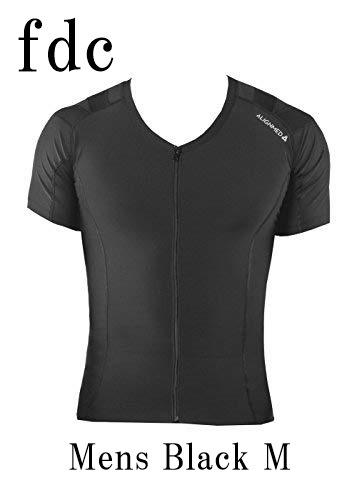 【送料無料】Posture Shirt 2.0 Zipper Mens Black サイズ:M 【オンサイドワールド】【ALIGNMED】【ポスチャーシャツ ジッパー メンズ 黒 サイズ:M】【姿勢コントロールシャツ】【スポーツインナー】
