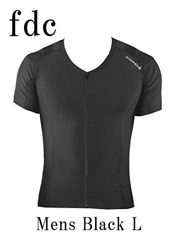 【送料無料】Posture Shirt 2.0 Zipper Mens Black サイズ:L 【オンサイドワールド】【ALIGNMED】【ポスチャーシャツ ジッパー メンズ 黒 サイズ:L】【姿勢コントロールシャツ】【スポーツインナー】