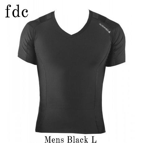【送料無料】Posture Shirt 2.0 Pullover Mens Black サイズ:L 【オンサイドワールド】【ALIGNMED】【ポスチャーシャツ プルオーバー メンズ 黒 サイズ:L】【姿勢コントロールシャツ】【スポーツインナー】