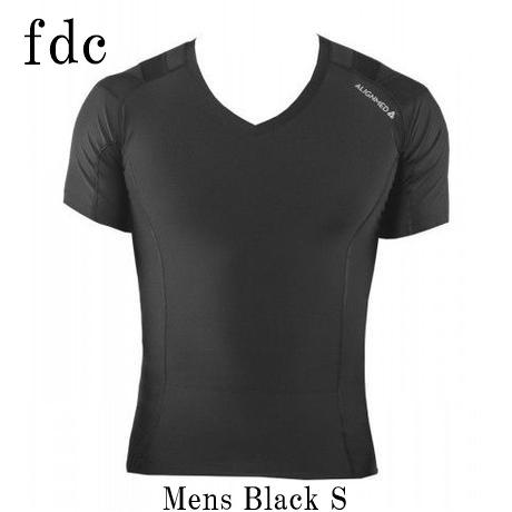【送料無料】Posture Shirt 2.0 Pullover Mens Black サイズ:S 【オンサイドワールド】【ALIGNMED】【ポスチャーシャツ プルオーバー メンズ 黒 サイズ:S】【姿勢コントロールシャツ】【スポーツインナー】