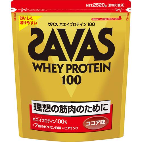 【送料無料】ザバス ホエイプロテイン100 ココア味 2520gザバス(SAVAS)