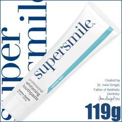 歯の美白の先進国のアメリカ人が認めたホワイトニング歯磨き粉 送料無料 スーパースマイル 公式通販 119g 歯磨き粉 最新 日本仕様版