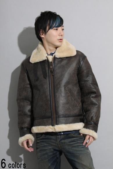 【ビッグサイズ】革ジャン ダブルフェイスムートンB-3 レザージャケット