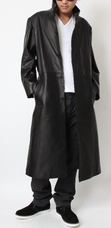 fdm-leather | Rakuten Global Market: Stand color long mens coat ...