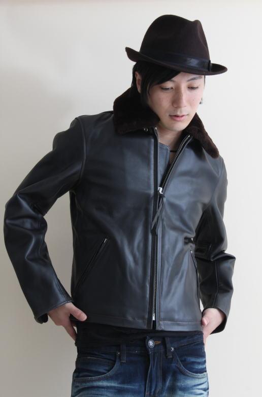 革ジャン メンズ 本革 カウレザー ムートン襟付 シングルライダース ブラック 黒 レザージャケット フリーダム 1606